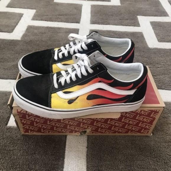 Vans Shoes   Vans Old Skool Flame Black